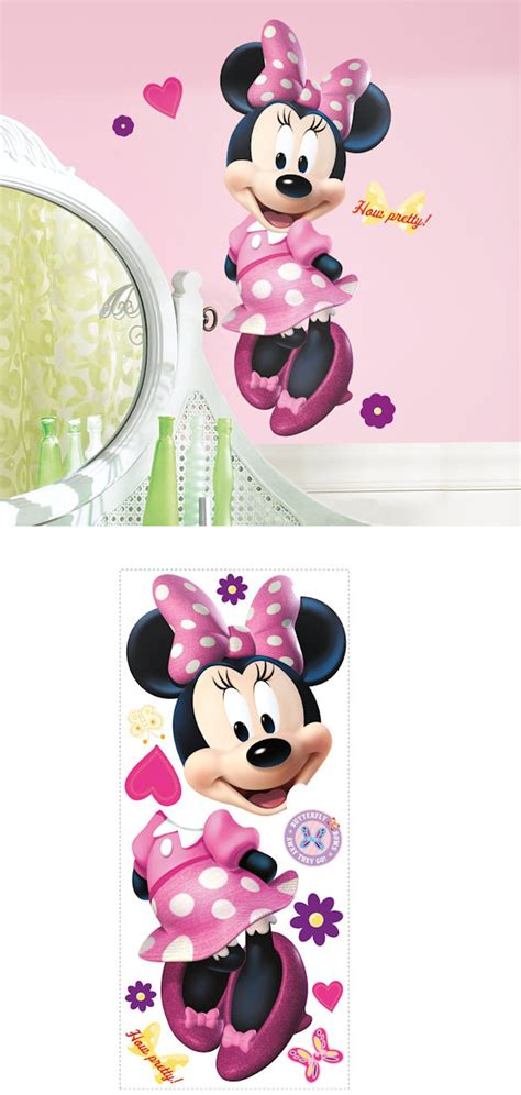 minnie mouse wall stickers minnie mouse bow tique wall decal