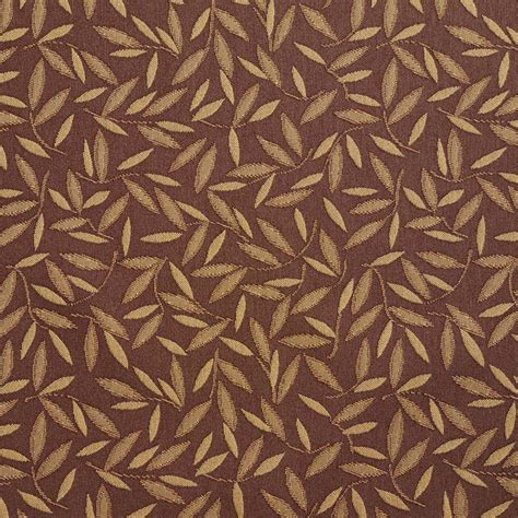Shop Upholstery Fabric by Brown And Gold Floral Leaf Contract Grade Upholstery