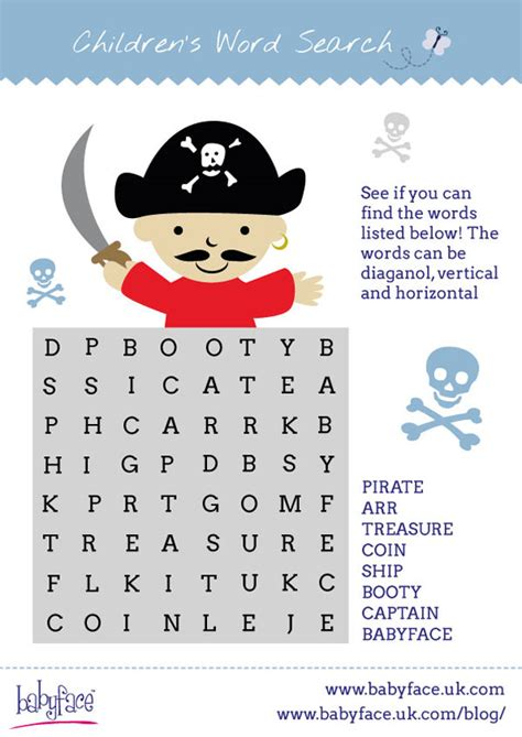 Boys Curtains Pirate Word Search Babyface Blog