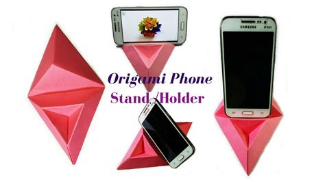 Origami Phone Holder - origami how to make a phone stand holder paper phone