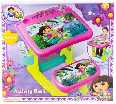 dora the explorer toddler desk chair girls pink bedroom dora the explorer activity desk price review and buy in