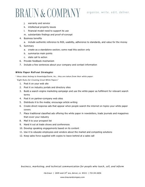 template for a white paper white paper outline