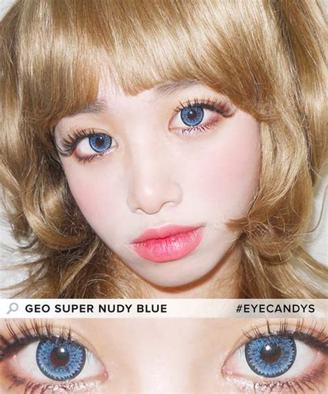 geo nudy blue circle lenses color eye contacts buy geo super nudy blue color contacts eyecandys