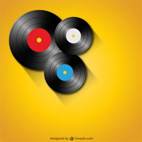 Background Records Vinyl Records Background Vector Free