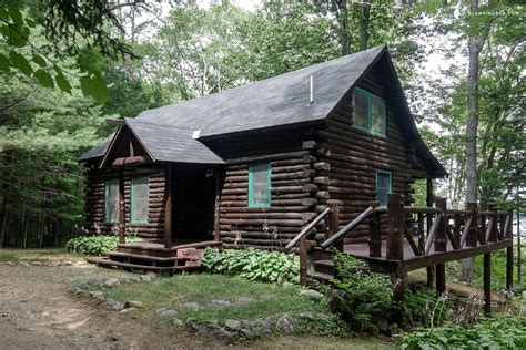 log home cabins lakefront log cabin rental in adirondack park