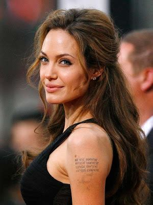 angelina jolie tattoo latitude longitude the bizarre and weird may 2009