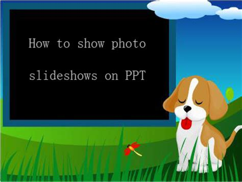 show template powerpoint create powerpoint photo album slideshow for ppt