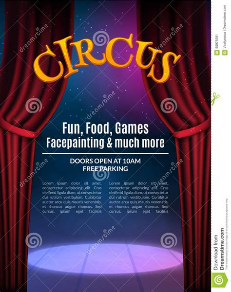 circus show poster template with sign festive circus