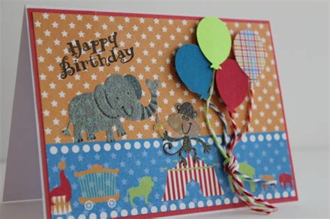 Childrens Handmade Birthday Cards - circus themed balloons happy birthday children s