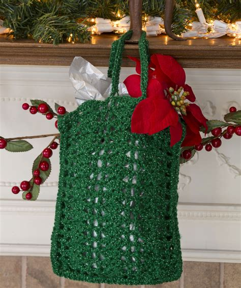 nick of time gift bag crochet pattern red heart