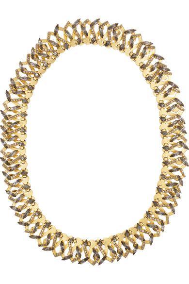 Would You Wear This Erickson Beamon Headband by Erickson Beamon Hung Up Gold Plated Swarovski