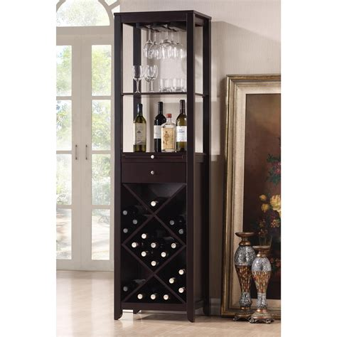 Wine Cabine by Shop Baxton Studio Brown 20 Bottle Wine Cabinet At