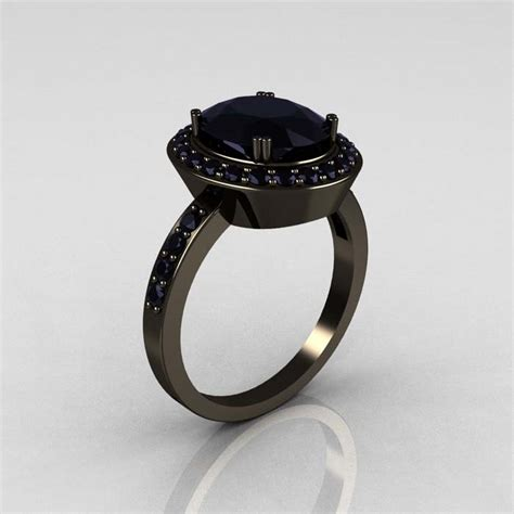 Black Engagement Rings by Black White Gold Engagement Rings