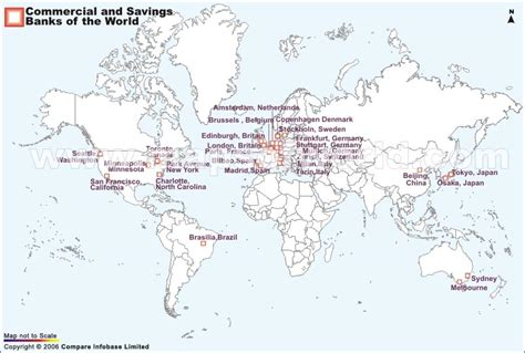 where is the world bank located the commercial and savings bank locations worldwide