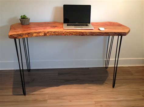 live edge wood desk reclaimed salvaged wood modern by
