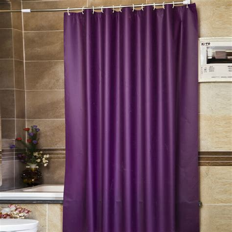 luxurious shower curtain thick purple peva solid luxury shower curtains