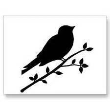 Best photos of bird on branch silhouette printable birds on branches