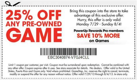 printable gamestop coupons gamestop coupon coupon specialist