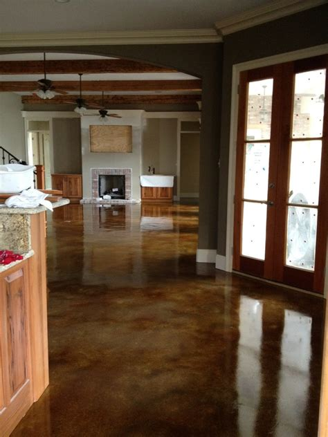 stain concrete floor colors decorating ideas