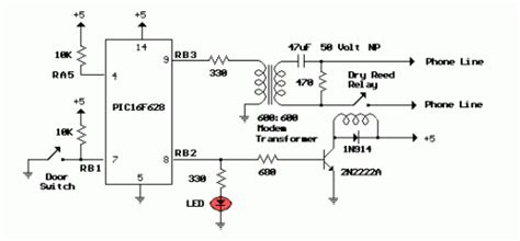 door security circuit diagram door security system