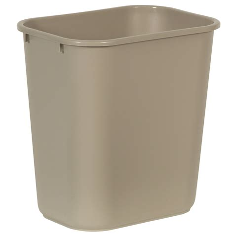 waste basket medium deskside waste basket 28 1 8 qt trashcans warehouse