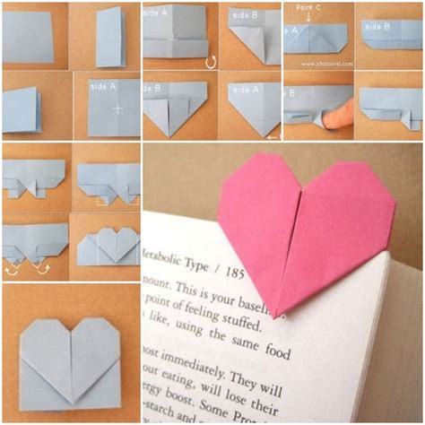 How To Make A Paper Bookmark For The Corner - diy origami shaped bookmark creative bookmarks