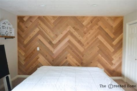 herringbone pattern accent wall how to diy a herringbone accent wall the created home