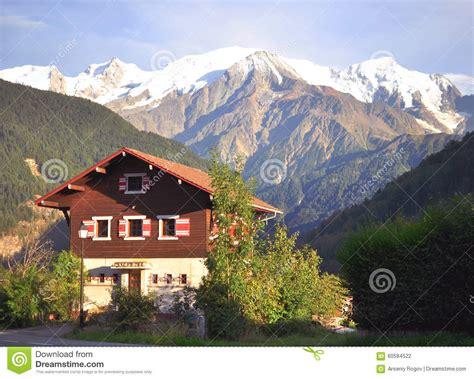 alpine house alpine house in mountains stock photo image 60584522