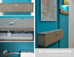 Wall Mounted Charging Station Organizer by Remodelaholic Get Rid Of Cord Clutter With These 25 Diy