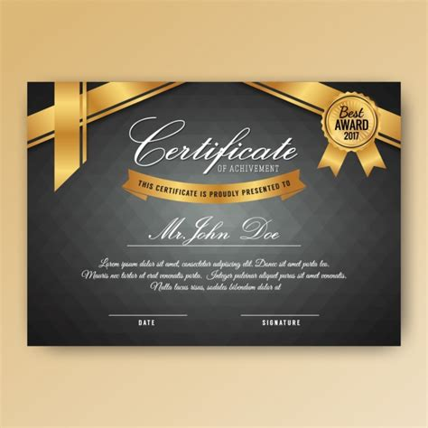 Free Vector Certificate Templates by Certificate Template Design Vector Free