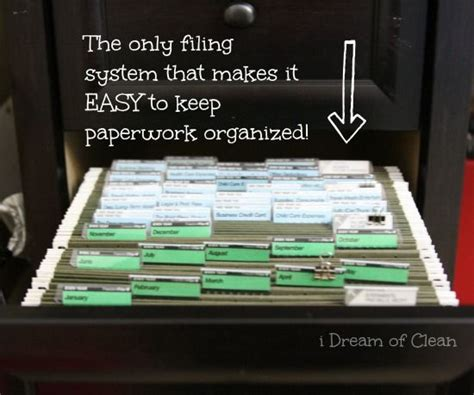 how to organize a file cabinet at home 25 best ideas about organizing paperwork on