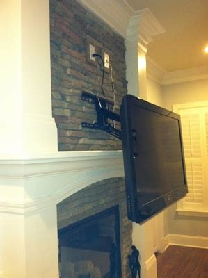 mounting tv above fireplace home theater diy chatroom