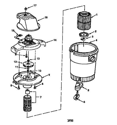 craftsman shop vac parts diagram fiskars power lever