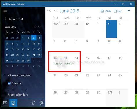 Windows Calendar Make Windows 10 Calendar Show National Holidays