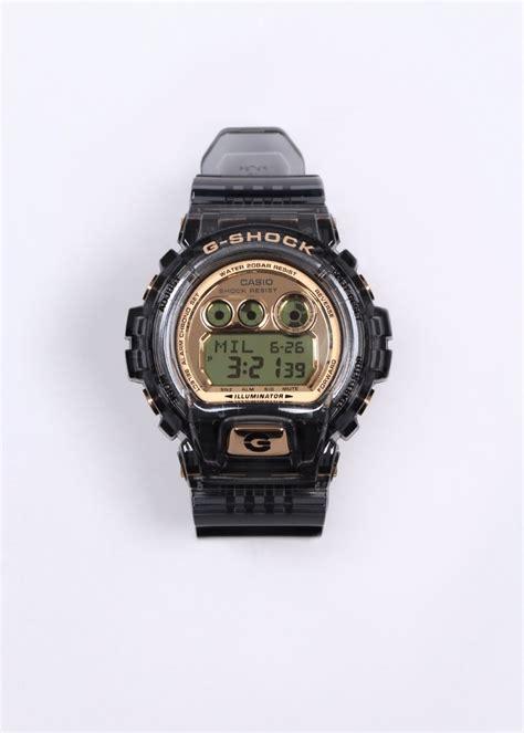 g shock gd x6900fb 8er clear black gold