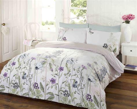 Bed Cover Set 3d Uk 160x200 memoirs duck egg teal blue green floral leaves duvet set