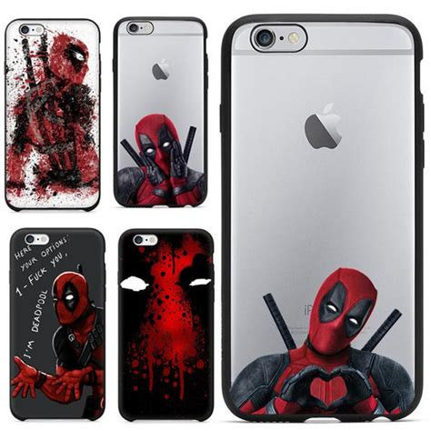 Casing Iphone 6 Plus Mirror Marvel Heroes Silicon Cover 2016 selling 3d cool marvel deadpool coque fundas black animetee