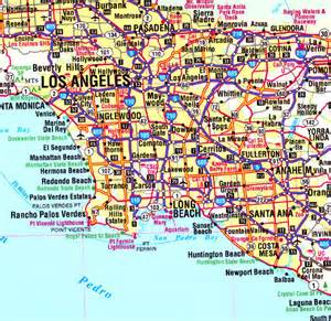 southern california wall map cartography sle