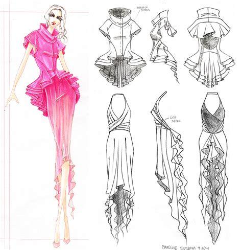 fashion illustration using markers mentor david meister by carrie sleutskaya at coroflot