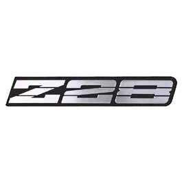 camaro rocker panel emblem, z28, silver, 1991 1992