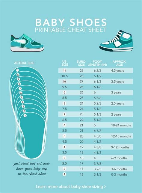 baby size chart ugg infant shoe size chart