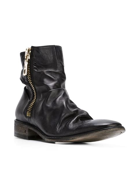 varvatos boots varvatos distressed zipped ankle boots in black for