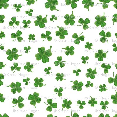 transparent printable fabric saint patricks day watercolor clover st patricks day