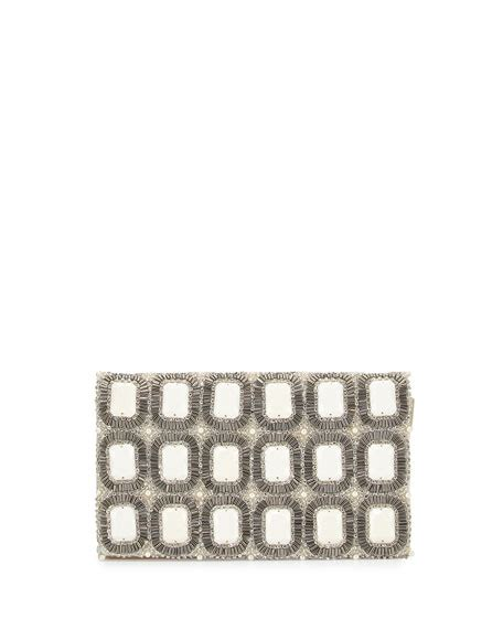 Inisial Clutch Motif be beaded motif clutch ivory