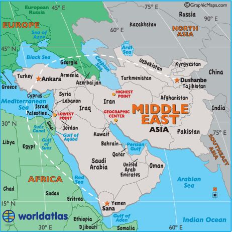 middle east map landforms middle east landforms and land statistics middle east
