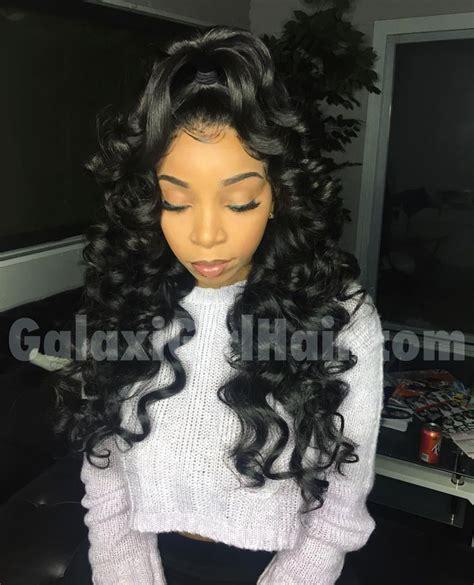 pin  jalissa lyons  weave   loose waves hair