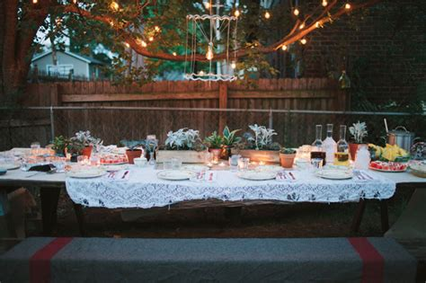 Backyard Dinner by A Backyard Green Wedding Shoes