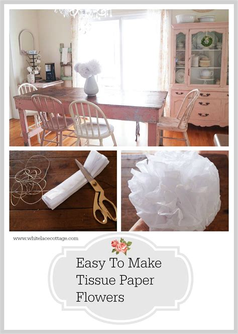 Easy Way To Make Tissue Paper Flowers - how to make tissue paper flowers white lace cottage