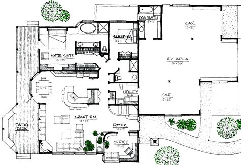 Rustic Lodge Space Efficient Solar And Energy Efficient Efficient House Design Plans