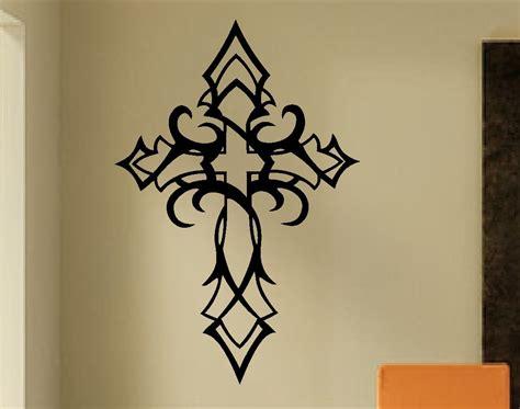 wall lettering decor tribal cross decal vinyl wall lettering vinyl wall decals